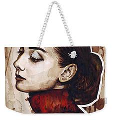 Audrey Hepburn Weekender Tote Bag by Olga Shvartsur