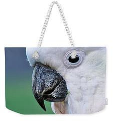 Australian Birds - Cockatoo Up Close Weekender Tote Bag by Kaye Menner