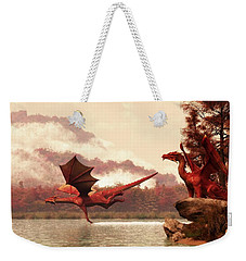 Autumn Dragons Weekender Tote Bag by Daniel Eskridge