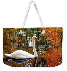 Autumn Swan Weekender Tote Bag by Lourry Legarde