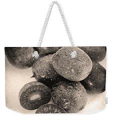 Baby Kiwi Distressed Sepia Weekender Tote Bag by Iris Richardson