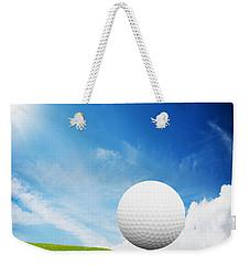 Ball On Tee On Green Golf Field Weekender Tote Bag by Michal Bednarek