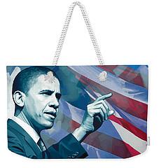 Barack Obama Artwork 2 Weekender Tote Bag by Sheraz A