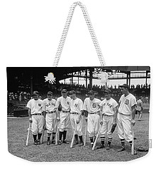 Baseball All Star Sluggers Weekender Tote Bag by Underwood Archives
