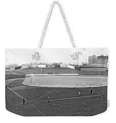 Baseball At Yankee Stadium Weekender Tote Bag by Underwood Archives