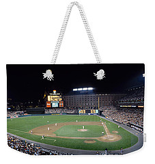 Baseball Game Camden Yards Baltimore Md Weekender Tote Bag by Panoramic Images