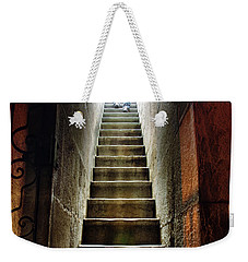 Basement Exit Weekender Tote Bag by Carlos Caetano