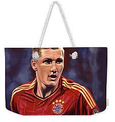 Bastian Schweinsteiger Weekender Tote Bag by Paul Meijering