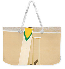 Bat Ball And Stumps Weekender Tote Bag by Jorgo Photography - Wall Art Gallery