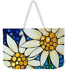 Bathing Beauties - Daisy Art By Sharon Cummings Weekender Tote Bag by Sharon Cummings