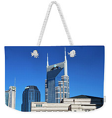 Batman Building And Nashville Skyline Weekender Tote Bag by Dan Sproul
