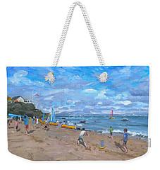 Beach Cricket Weekender Tote Bag by Andrew Macara