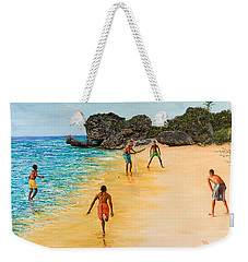 Beach Cricket Weekender Tote Bag by Victor Collector