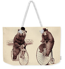 Bears On Bicycles Weekender Tote Bag by Eric Fan