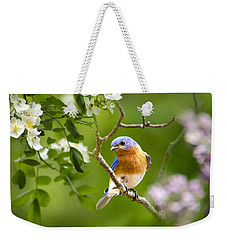 Beautiful Bluebird Weekender Tote Bag by Christina Rollo