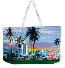 Beautiful South Beach Weekender Tote Bag by Jon Neidert