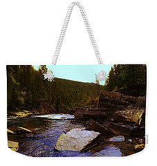 Beautiful Yak River Montana Weekender Tote Bag by Jeff Swan