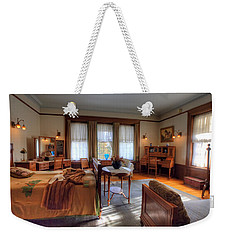 Bedroom Glensheen Mansion Duluth Weekender Tote Bag by Amanda Stadther