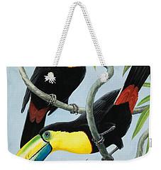 Big-beaked Birds Weekender Tote Bag by RB Davis