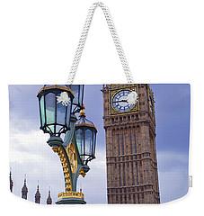 Big Ben And Lampost Weekender Tote Bag by Simon Kayne