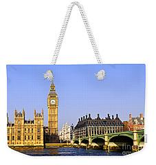 Big Ben And Westminster Bridge Weekender Tote Bag by Elena Elisseeva