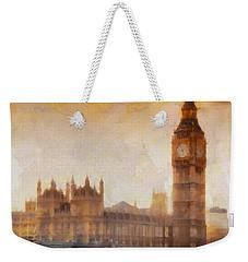 Big Ben At Dusk Weekender Tote Bag by Pixel Chimp