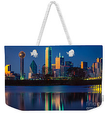 Big D Reflection Weekender Tote Bag by Inge Johnsson