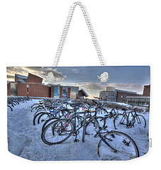 Bikes At University Of Minnesota  Weekender Tote Bag by Amanda Stadther