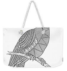 Bird Hornbill Weekender Tote Bag by Neeti Goswami