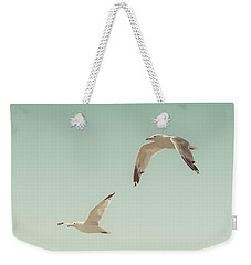 Birds Of A Feather Weekender Tote Bag by Lucid Mood