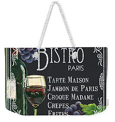 Bistro Paris Weekender Tote Bag by Debbie DeWitt