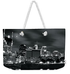 Black And White Nashville Weekender Tote Bag by Frozen in Time Fine Art Photography