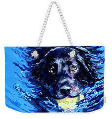 Black Lab  Blue Wake Weekender Tote Bag by Molly Poole