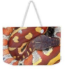 Blood Python Weekender Tote Bag by Art Wolfe