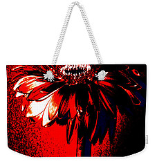 Bloody Mary Zinnia Weekender Tote Bag by Sherry Allen