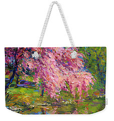 Blossoming Trees Landscape  Weekender Tote Bag by Svetlana Novikova