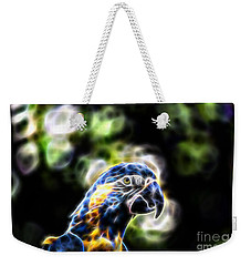 Blue And Gold Macaw V4 Weekender Tote Bag by Douglas Barnard