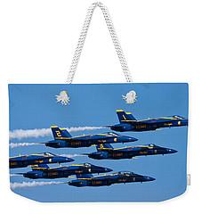Blue Angels Weekender Tote Bag by Adam Romanowicz