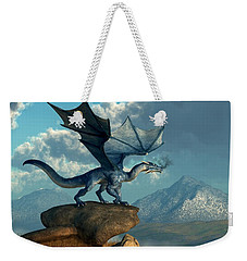 Blue Dragon Weekender Tote Bag by Daniel Eskridge