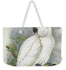 Blue-eyed Cockatoo Weekender Tote Bag by William Hart