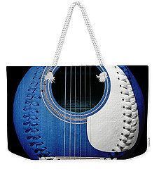Blue Guitar Baseball White Laces Square Weekender Tote Bag by Andee Design