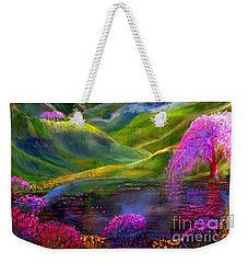 Blue Mountain Pool Weekender Tote Bag by Jane Small