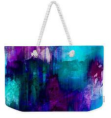 Blue Rain  Abstract Art   Weekender Tote Bag by Ann Powell