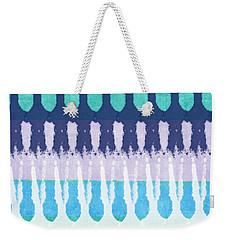 Blue Tie Dye Weekender Tote Bag by Linda Woods