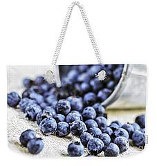 Blueberries Weekender Tote Bag by Elena Elisseeva