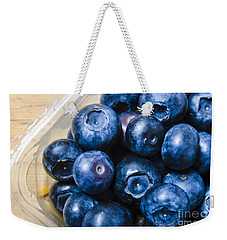 Blueberries Punnet Weekender Tote Bag by Jorgo Photography - Wall Art Gallery