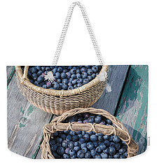 Blueberry Baskets Weekender Tote Bag by Edward Fielding