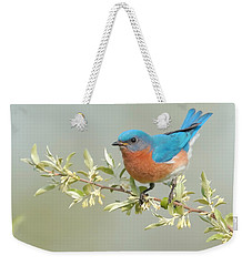 Bluebird Floral Weekender Tote Bag by William Jobes