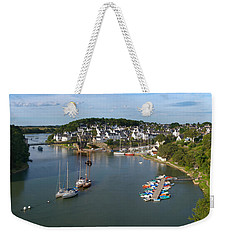 Boats In The Sea, Le Bono, Gulf Of Weekender Tote Bag by Panoramic Images