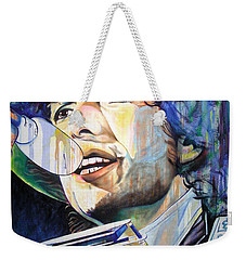 Bob Dylan Tangled Up In Blue Weekender Tote Bag by Joshua Morton